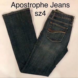 Apostrophe Jeans Bootleg Size 4